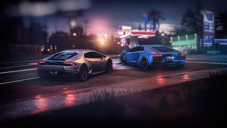 Sports Cars Lamborghini Aventador Gta Online Video Game