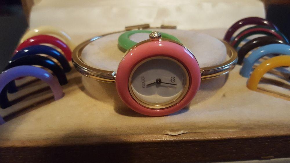 1a411adb119 Gucci watch women vintage 10-11 interchangeable bezels
