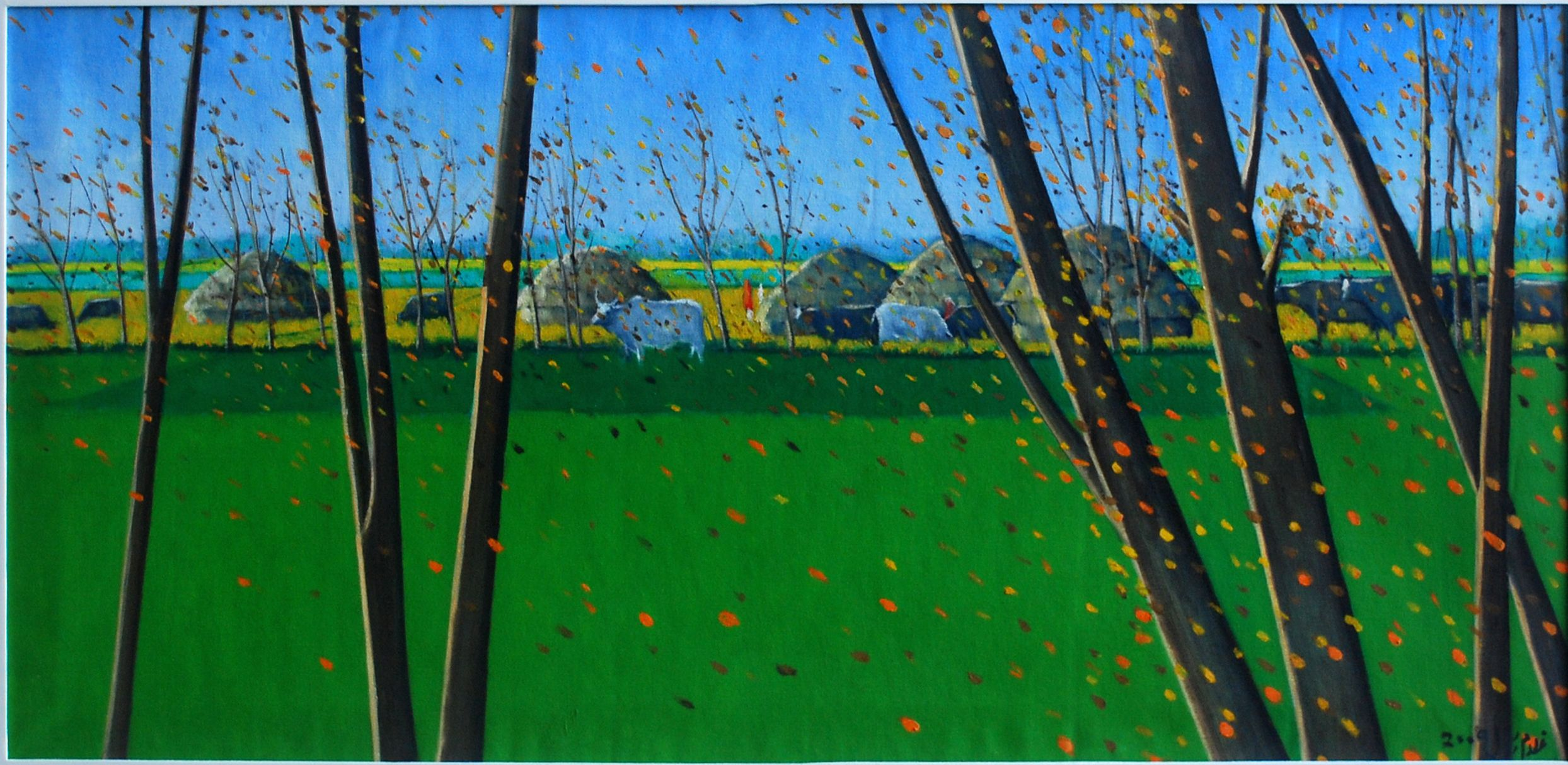 Title: Winter Landscape Available  Contact :: rasuls_studio542@hotmail.com  #GhulamRasul #LandscapeArtist #Landscape