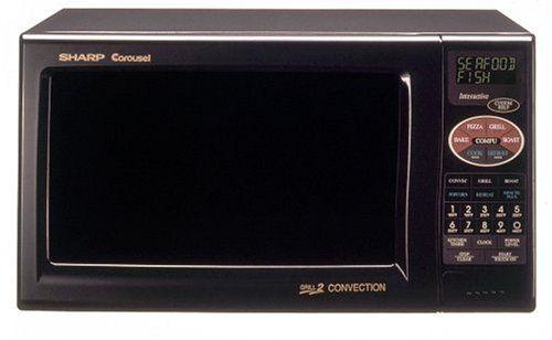 Buy Sharp R 820bk 900 Watt 0 9 Cubic Foot Convection Microwave