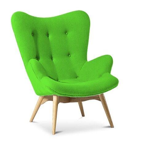 Good Cashmere Designer Armchair Bright Green