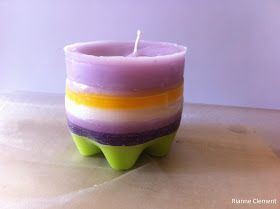 Rianne's Crea Art: Kaarsen maken