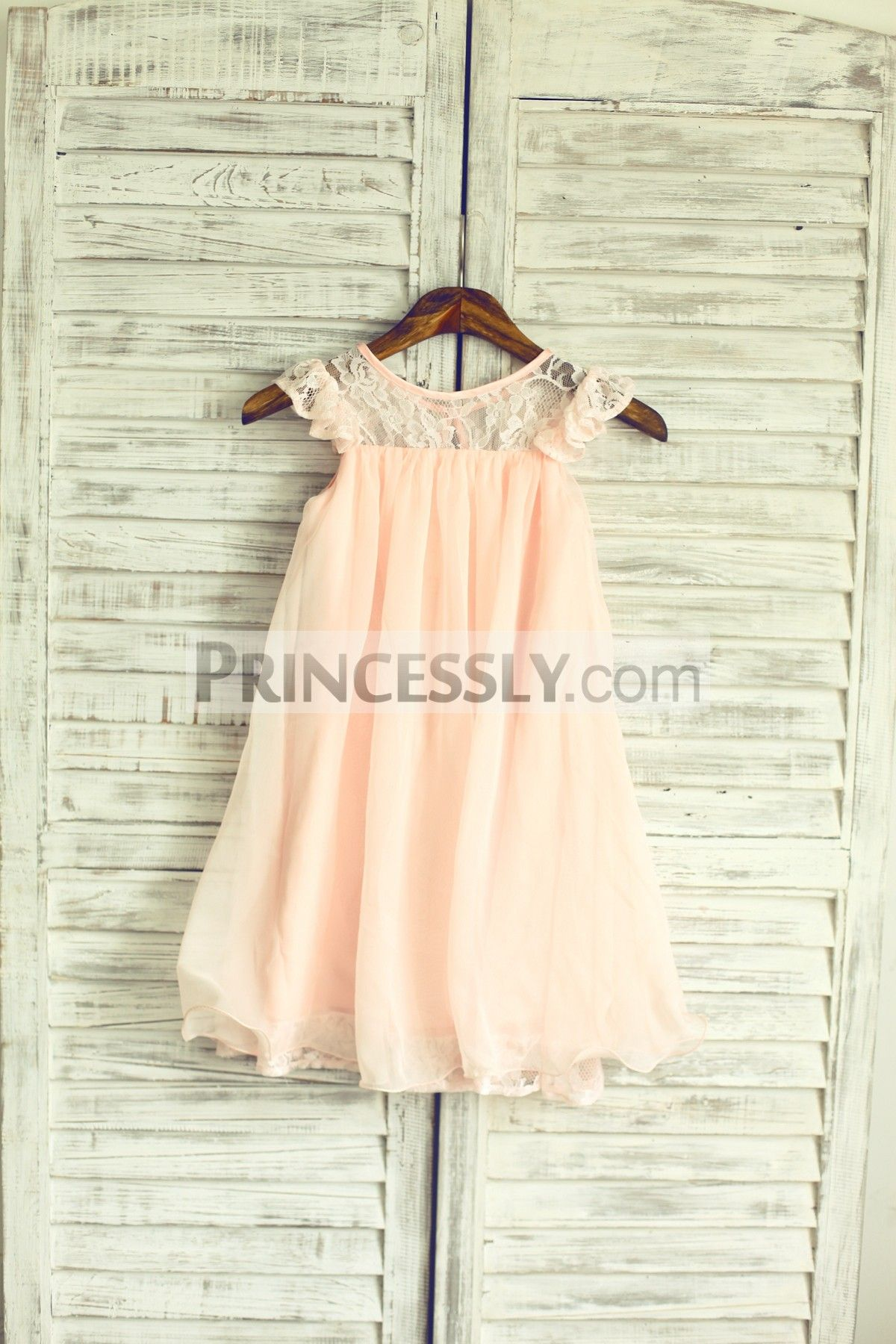 Navy Blueivoryblush Pinkgrey Lace Chiffon Flower Girl Dress With