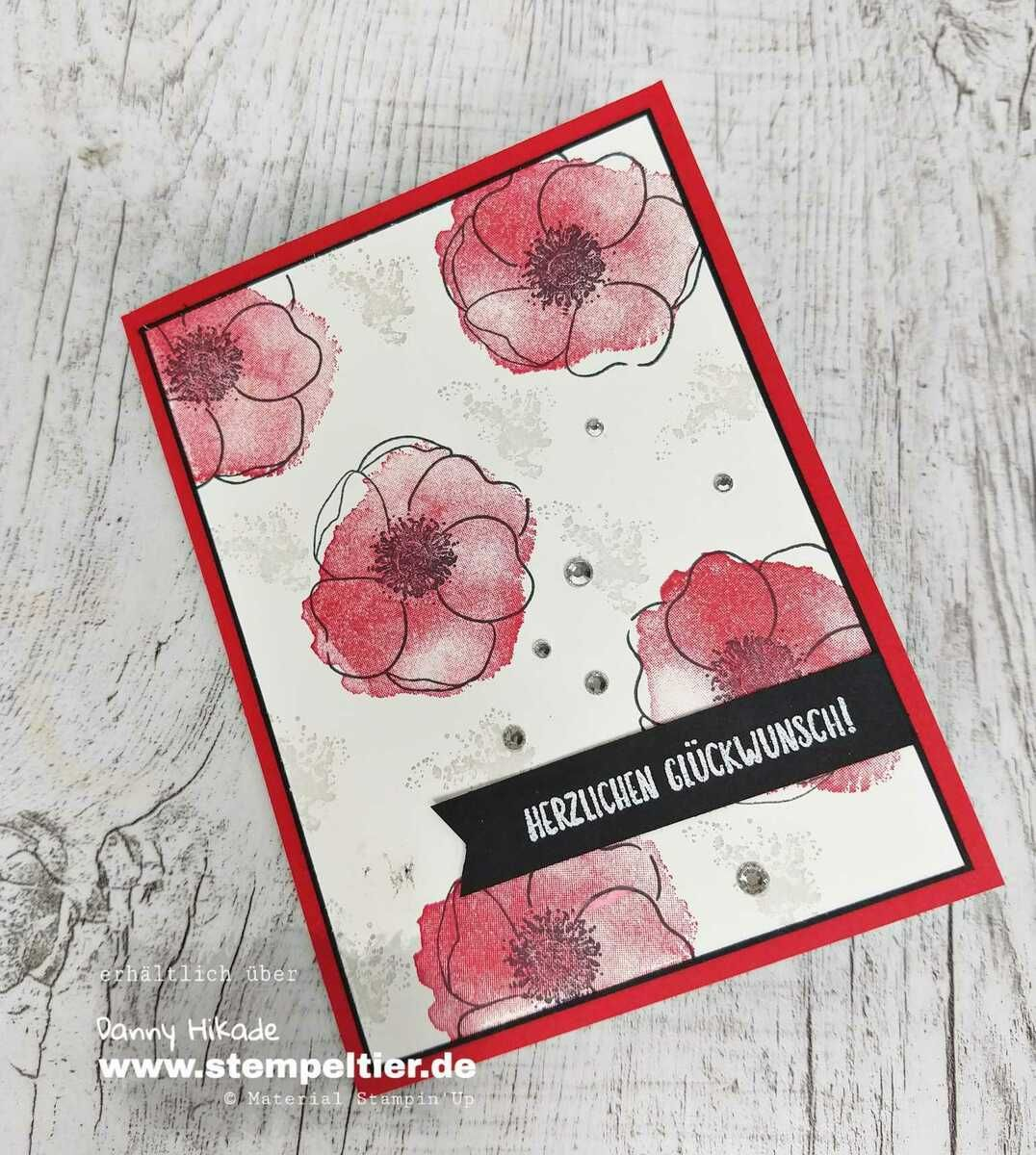 Mohnblumen Dsp In 2020 Poppy Cards Stamping Up Cards Stampin Up Cards