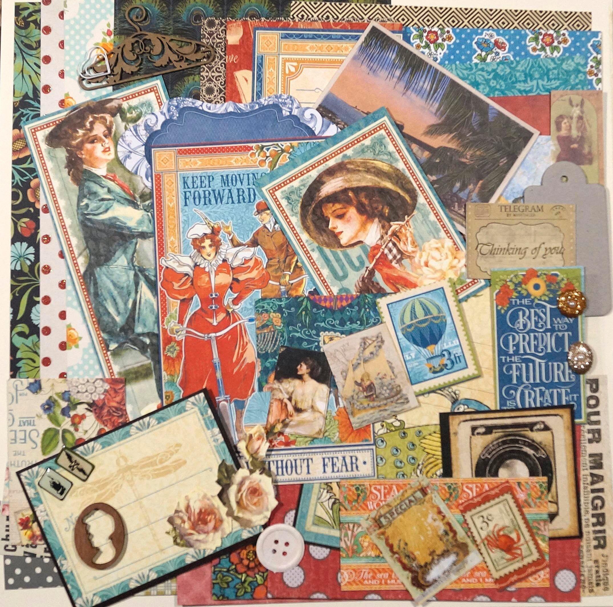 Junk Journal Vintage Kit 50 Items