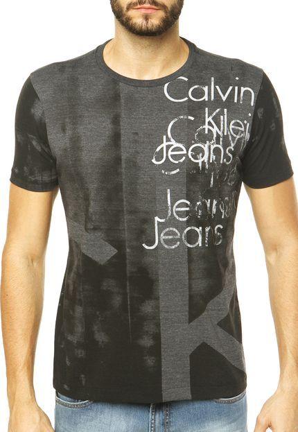 a9e106922297d Camiseta Calvin Klein Jeans Cinza - Marca Calvin Klein Jeans