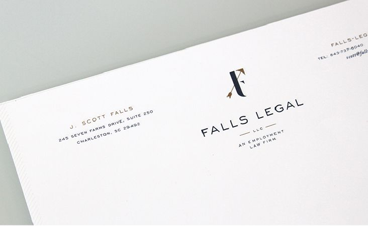 falls legal branding and stationery