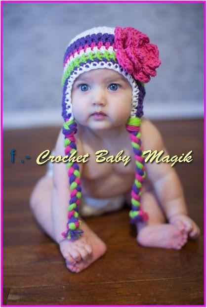 como hacer gorros tejidos para niñas - Buscar con Google ... 87ceb254c70