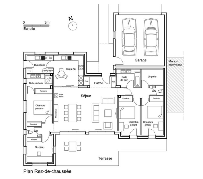 Fotos de decoração, design de interiores e reformas - plan d une maison simple