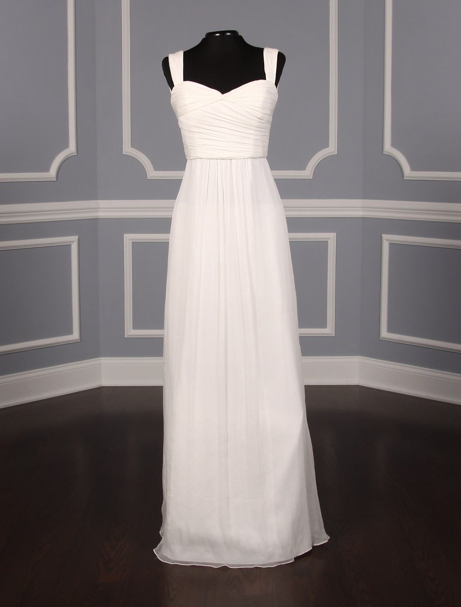 9725491c577a2 This beautiful Amsale G877C wedding dress is Brand New and has its hang  tags attached! The sleeveless bodice has a sweetheart neckline that flows  into a ...