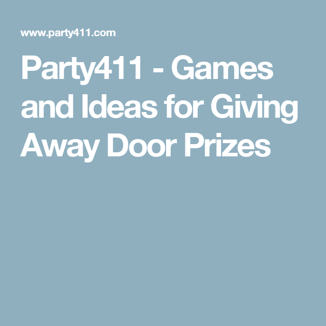 Games for giving away door prizes
