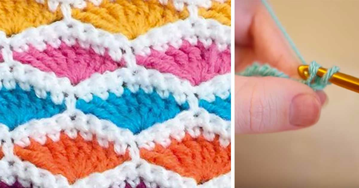 The shell stitch is a beautiful stitch and useful for making afghans ...