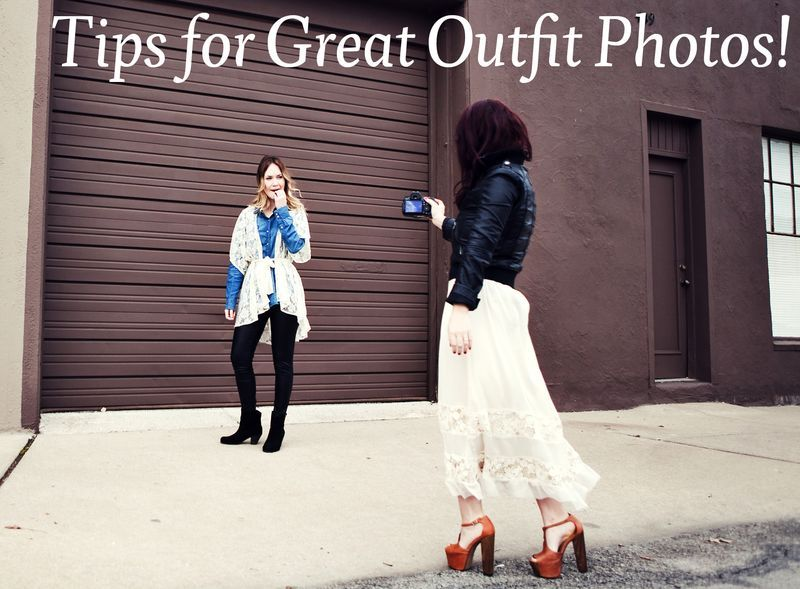 creative tips for outfit photos from A Beautiful Mess Elsie + Emma