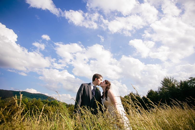 Capture the sky on your wedding day for a truly unique portrait.  Taylor & Kevin's Summer Wedding   Blacksburg Country Club