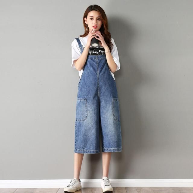 1277fd7292d SHINYMORA 2018 Summer Jeans Overalls for Women Female Loose Denim Jumpsuits  Girl Cute Rompers Casual Wide