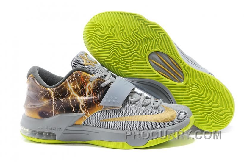 buy online 462fc ea276 Nike KD 7 Custom Thunder Grey Yellow, Price   87.00 - Stephen Curry Shoes Under  Armour Store Online