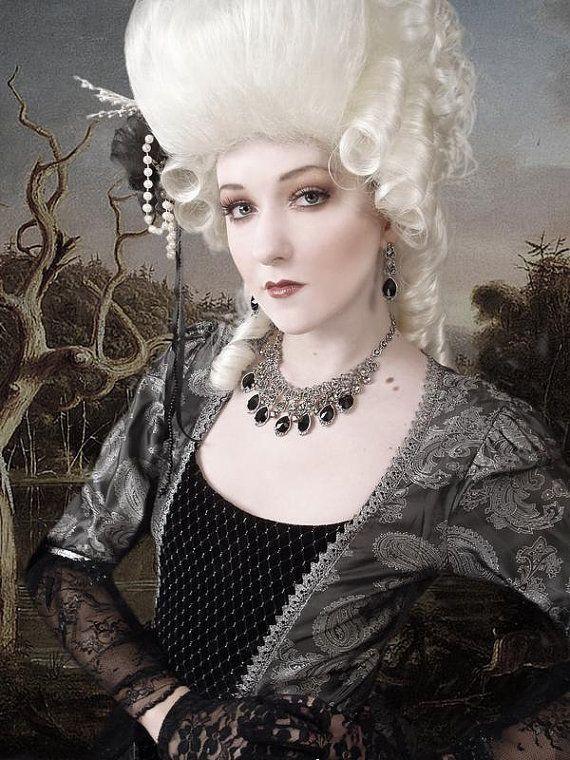48fbf432a72631 Marie Antoinette Wig / Rococo Style Wig / Masquerade Party Wig / Powdered  Wig / Baroque Wig