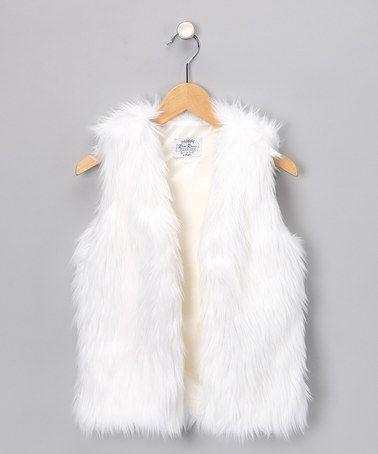 f81d5444e1f5 Take a look at this White Faux Fur Vest - Girls by Oopsy Daisy Baby ...