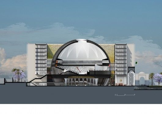 Bureau architecture méditerranée designs algerian parliament around