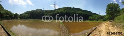 """Japanese rural scenery - Panoramic""Fotolia.com の ストック写真とロイヤリティフリーの画像 - Pic 85699751"