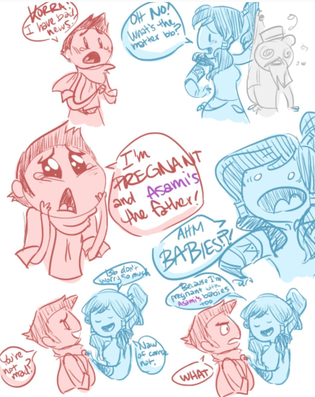A hilarious LOK comic by tumblr user masterarrowhead. Thank you arrow head for creating this part 1 of 2