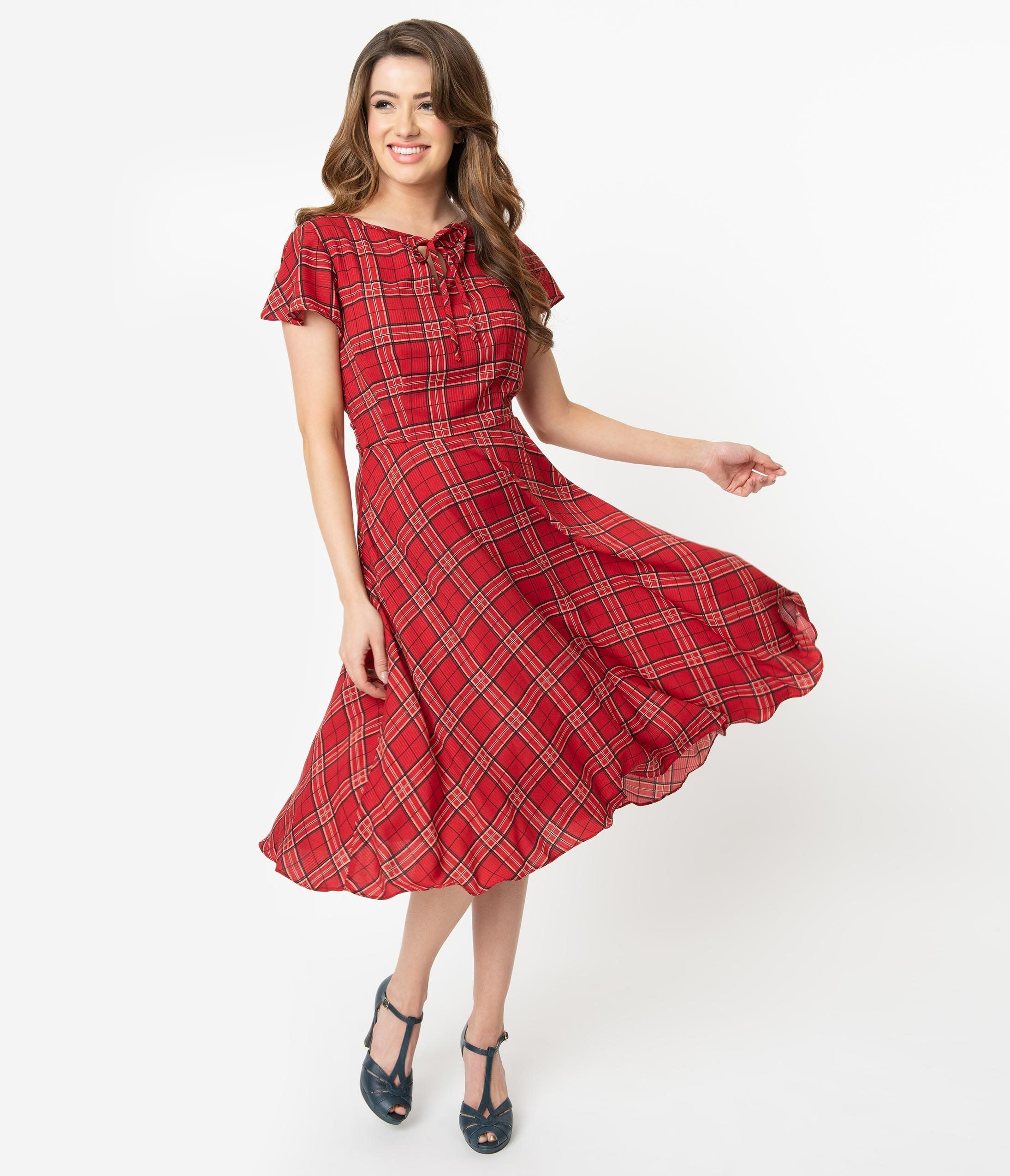 Vintage Christmas Dress Party Dresses Night Out Outfits Swing Dress 1940s Fashion Vintage Christmas Dress [ 2550 x 2190 Pixel ]