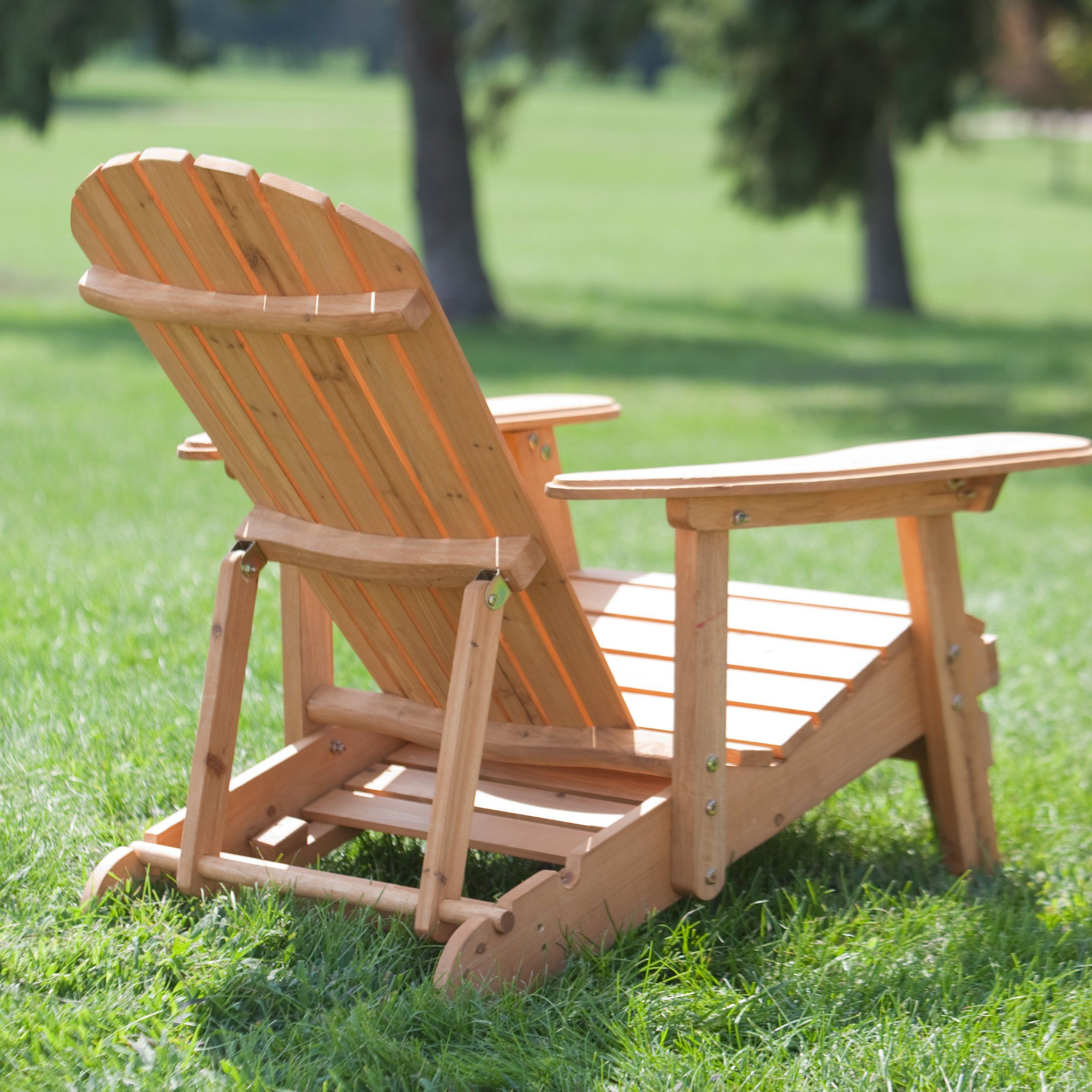 Coral Coast Big Daddy Reclining Tall Wood Adirondack Chair With Pull Out  Ottoman   Adirondack Part 87