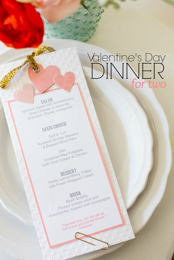 Valentines Day Menu for Two (9 of 10) (1) Paper Love Pinterest - event menu template