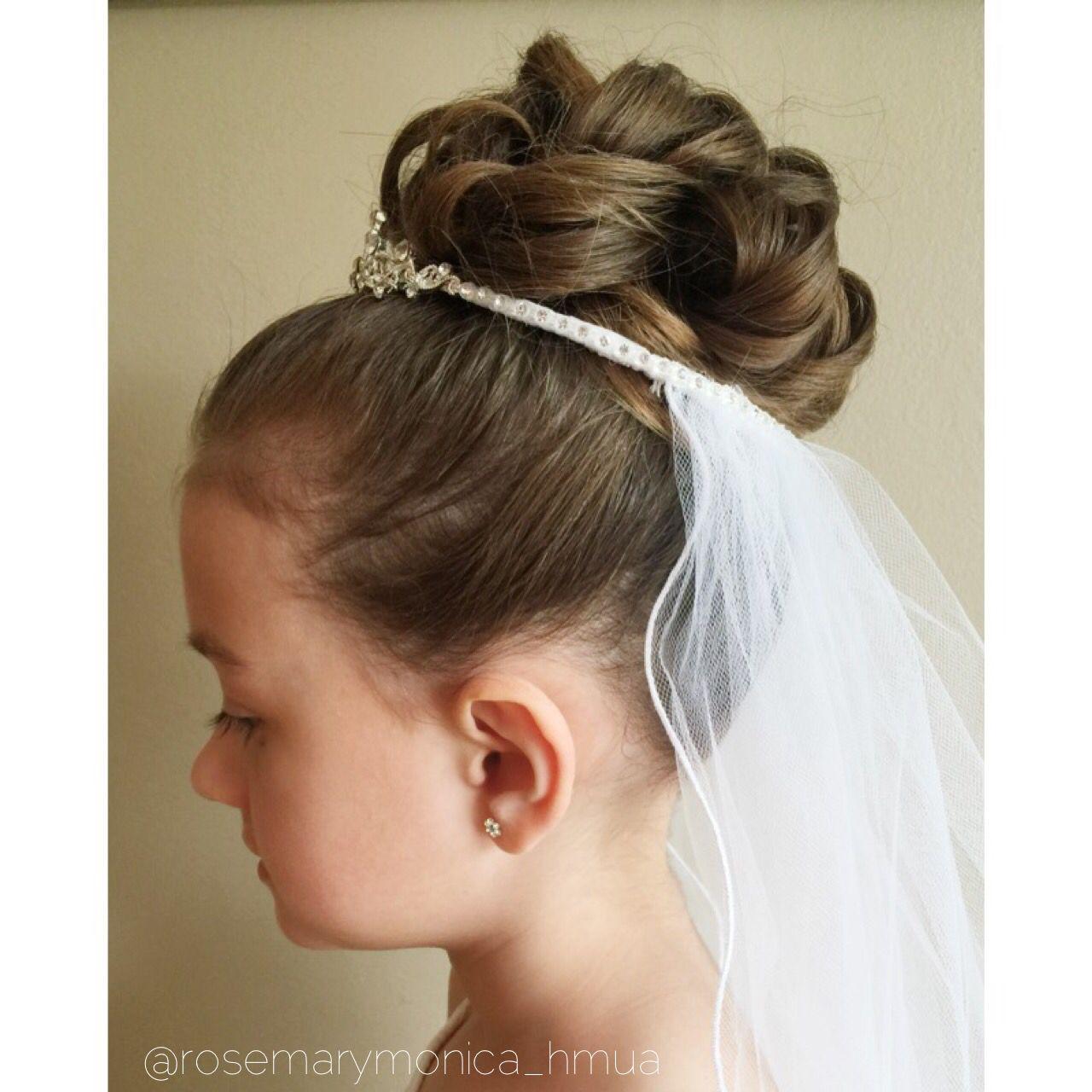 first communion upstyle | ig @rosemarymonica_hmua | hair +