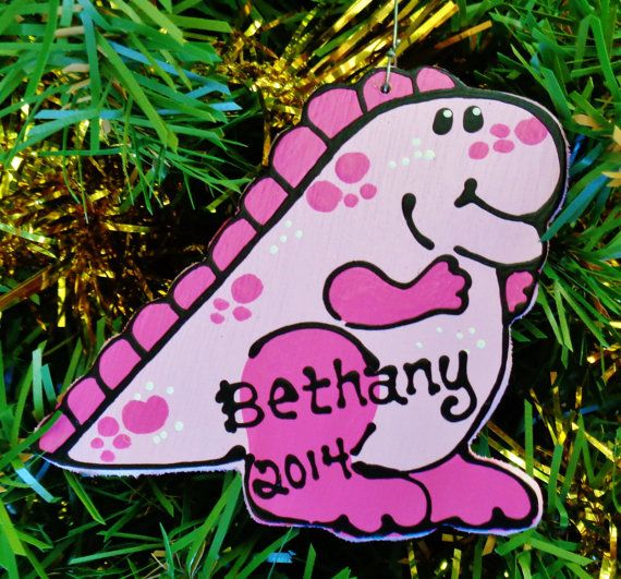 U CHOOSE Name & Date Personalized Pink DINOSAUR By