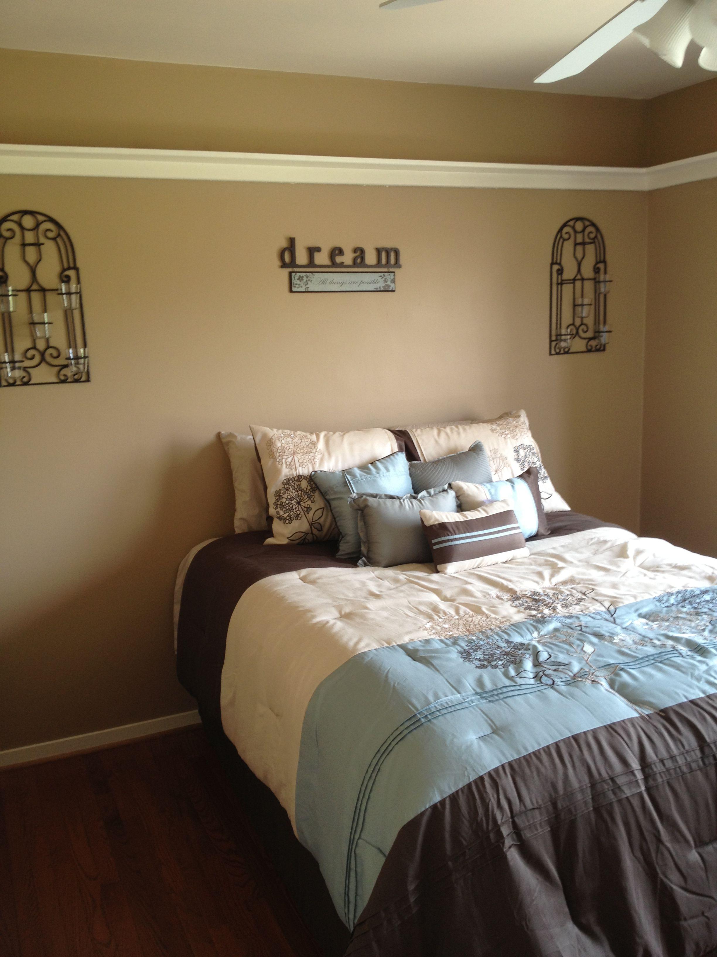 Blue Brown Tan Guest Bedroom Dream Brown Master Bedroom Brown Bedroom Colors Guest Bedroom