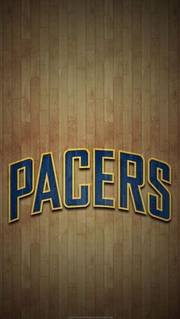 Indiana Pacers Mobile Hardwood Logo Wallpaper Indiana Pacers Logo Basketball Basketball
