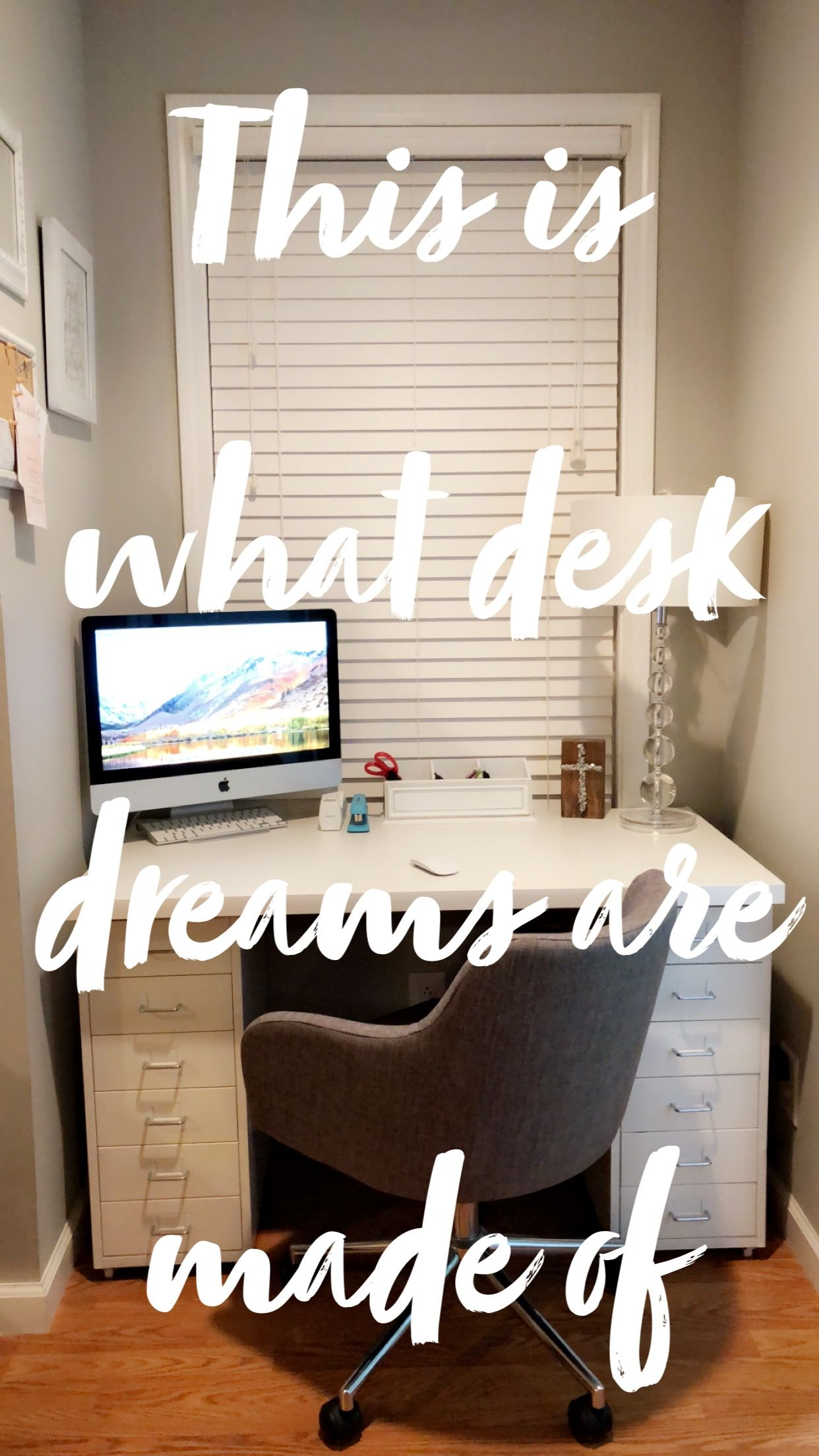 IKEA desk with Helmer drawer units and Linnmon tabletop | House and
