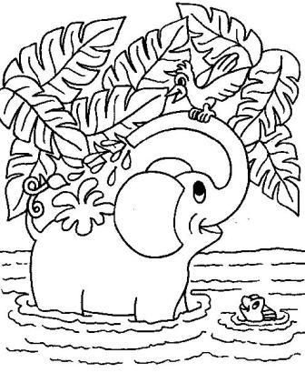 Elephant Printable Coloring Pages | Kathleen | Elephant coloring ...