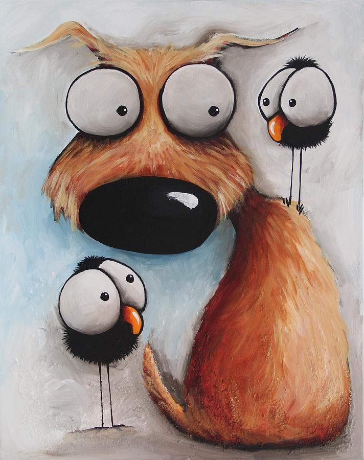 Рисунки смешные собак, кусочки ткани