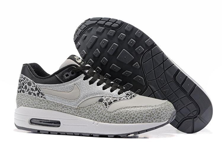 best cheap 3a969 c7244 Nike Air Max 87 Grey White Black Men Running Shoes 665873-009