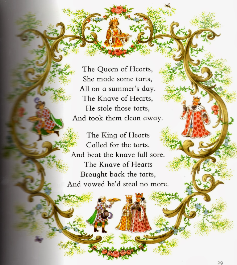 Nursery Rhyme The Queen Of Hearts
