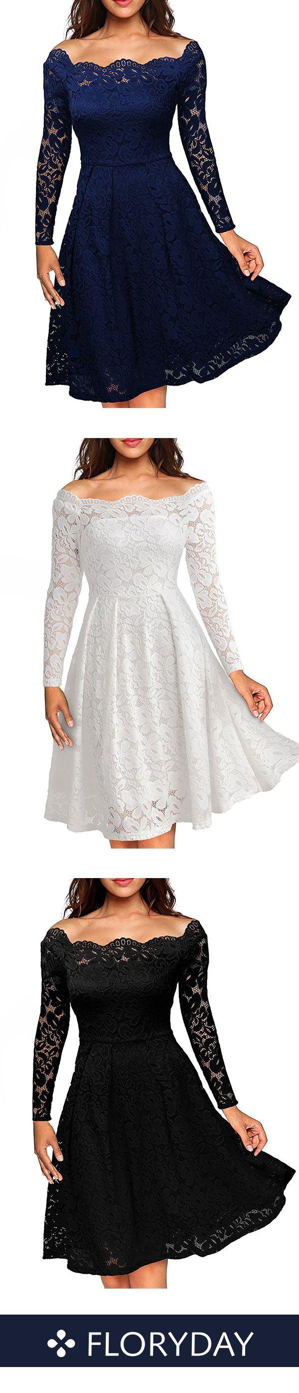 Knielanges Kleid aus Spitze  Kleid spitze, Damenmode kleider