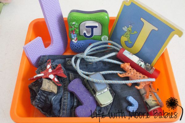 How To Make A Letter J Sensory Bin  Baby Letters Sensory Tubs