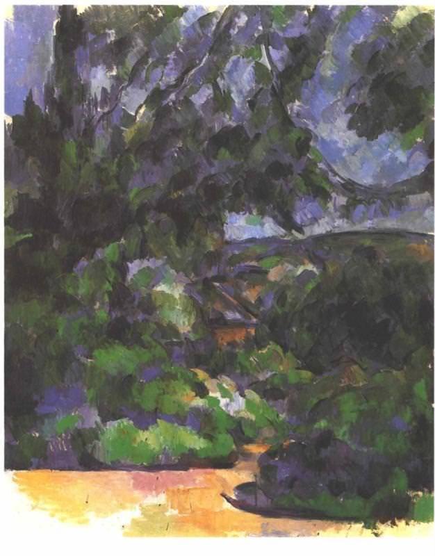 Blue landscape - by Paul Cezanne  #cezanne #paintings #art