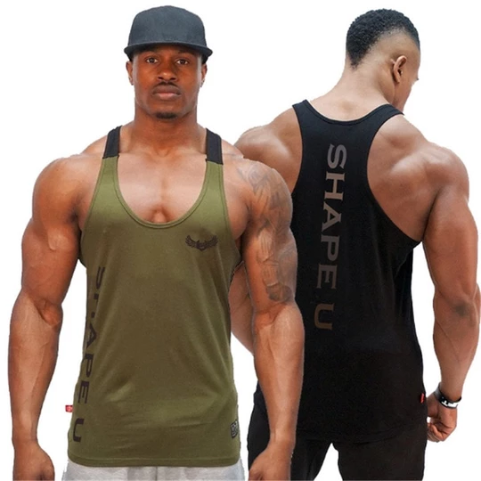 Men Bodybuilding Tank Top Gyms Fitness Sleeveless Shirt New Male Cotto Geekbuyig Gym Tank Tops Men Crossfit Clothes Mens Workout Clothes