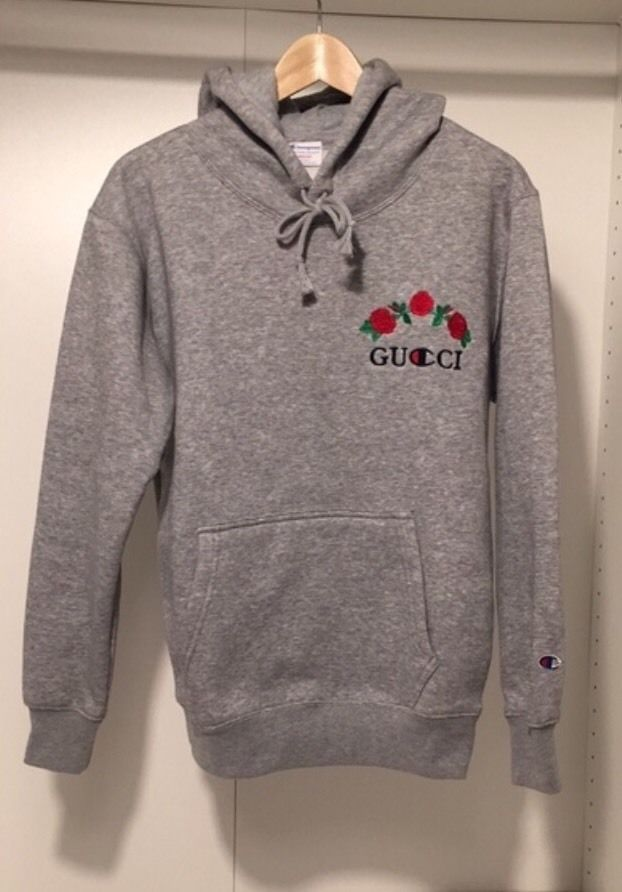 ava nirui gucci x champion hoodie size large common shopping