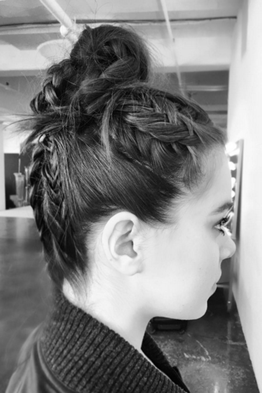 Plaits the coolest braids for all hair lengths braided top knots