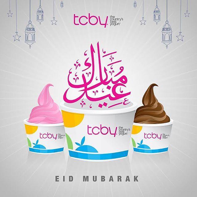 Eid Mubarak عيد مبارك Bahrain Tcby Handscooped Softserve Froyo Tcby Eid Mubarak Soft Serve