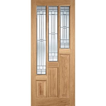 Coventry Oak Door With Elegant Double Glazing And Frame Set With One Unglazed Side Screen External Oak Doors Glazed External Doors Oak Exterior Doors