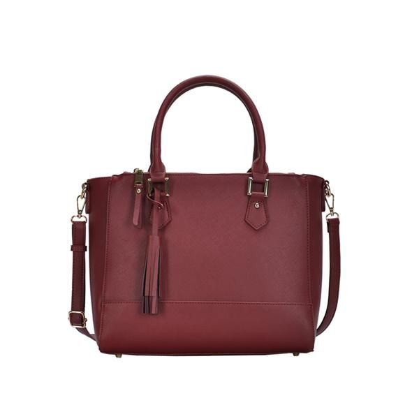 Good Prices quality products huge range of Jordan Vegan Leather Satchel in Wine   Kind Style Shop ...