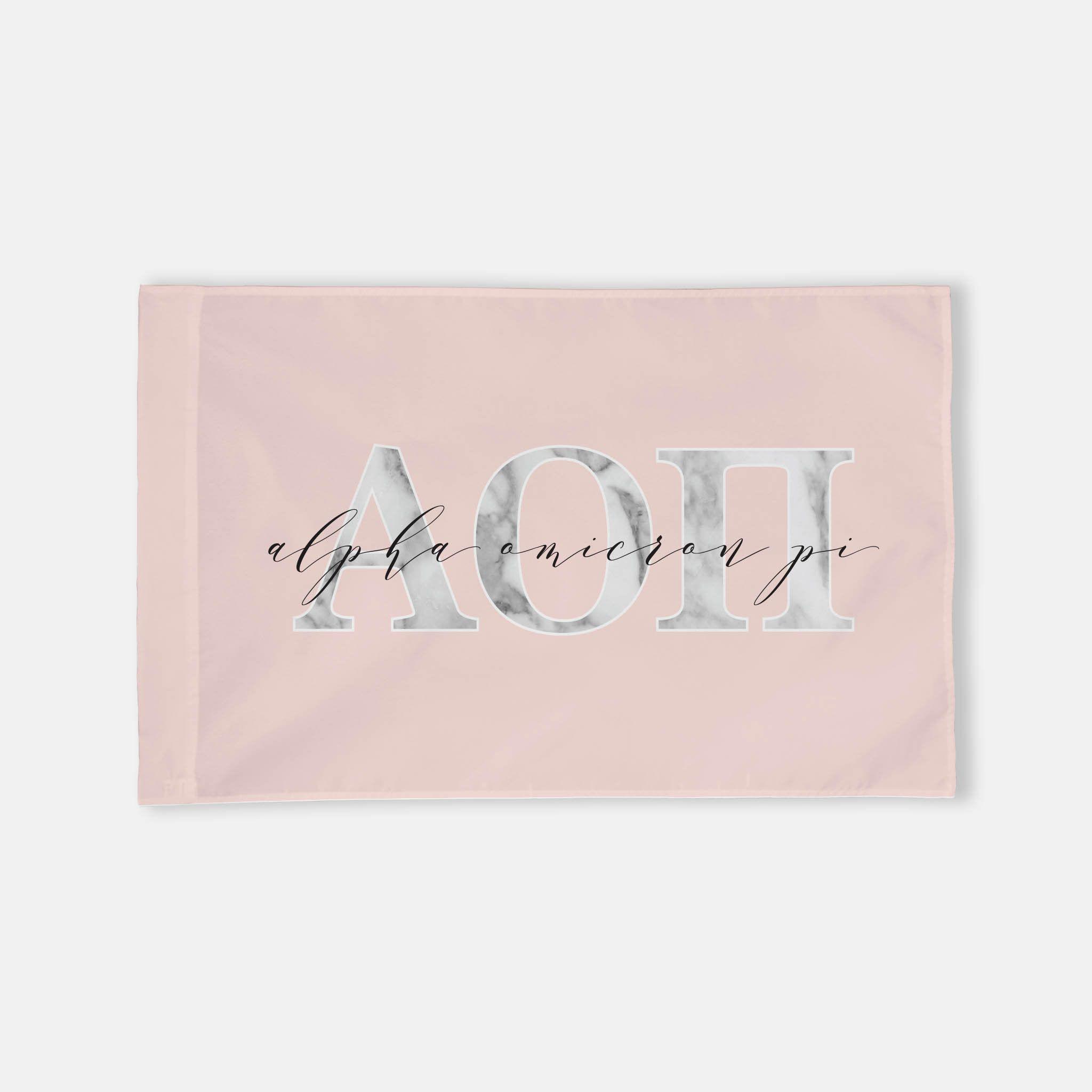 Alpha Omicron Pi Horizontal Greek Letter Flag Blush Marble Etsy In 2020 Alpha Omicron Pi Greek Letters Design Greek Letters