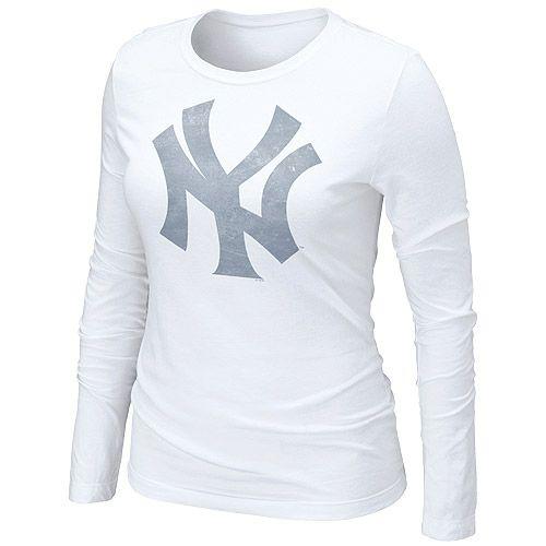 New York Yankees Women s Long Sleeve Blended T-Shirt by Nike - MLB.com Shop fca88025db2