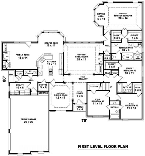 Aaa Plan Hhf 8162 1st Level Move Garage To Touch Family Room Enlarge Laundry Area Add Drop Off Locker Zone Add Office By Laundry R Floorplans Count