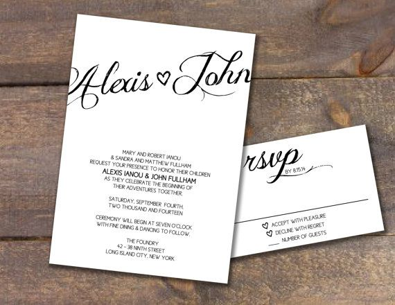 Simple Wedding Invitations Pinterest: Maybe On A Different Paper Color